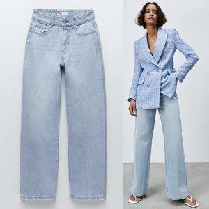 NEW Zara Z1975 Super High Waist Wide Leg Jeans 2